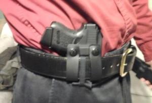 Notice the thin belt loop on my pants